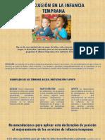 La Inclusión en La Infancia Temprana(1)