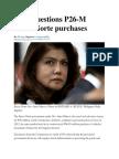 COA Questions P26-M Ilocos Norte Purchases