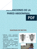 Alteración de La Pared Abdominal