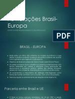 As Relações Brasil-Europa