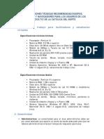 Especificaciones Tecnicas Portal