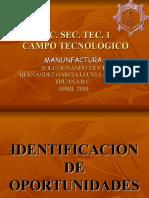 Proyecto Técnico Campo de la Manufactura