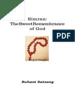 Simran by Sant Kirpal Singh English