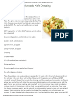 Potato Salad With Avocado Kefir Dressing - Thedigestersdilemma