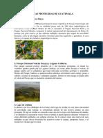 Principales Areas Protegidas de Guatemala