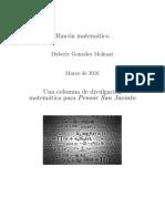 Columna matemática para Pensar San Jacinto (Marzo 2016)