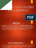 II Unidad La Ética y Los Valores en La Empresa