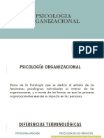 II Clase Psicologia Organizacional