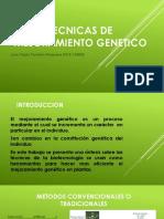 Tecnicas de Mejoramiento Genetico