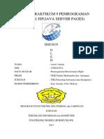 Laporan Praktikum 9 Pemrograman Memakai Jsp