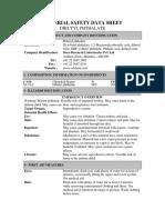 MATERIAL SAFETY DATA SHEET DIBUTYL PHTHALATE