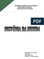 História da moeda - trabalho de noções de economia