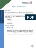 Ratios - Financial Sector