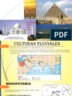 CULTURAS FLUVIALES (Mesopotamia Egipto China India)