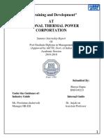 Training & Devlopment in NTPC -shreya Gupta