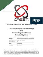 Crest Crt Cpsa Technical Syllabus 2.0