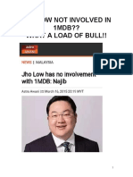 JHO LOW NOT INVOLVED?