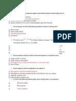 Numerical Methods MCQ