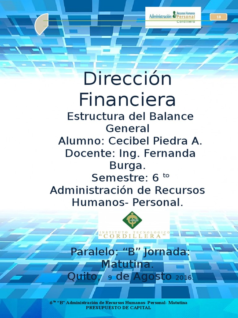 Estructura Balance Geeneral