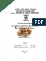 Universidad Jorge Basadre Grohoman Biologia Del Desarrollo