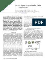 Microwave Photonics Signal Generation for Radar Applicatiom