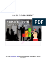Sample on SALES DEVELOPMENT