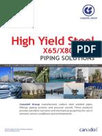 High Yield Steel X65,80,100