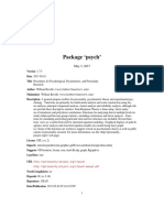 Psych R Package