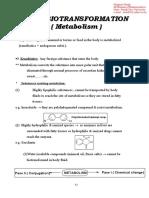 Drug Biotransformation