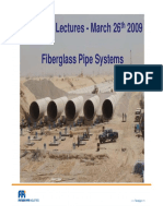Lecture 26-03-2009 Introduction to Fiberglass Pipe Systems