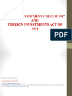 Foreing Investment Act