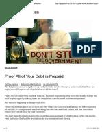 Proof Debt is Prepaid