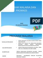 Program Malaria Dan Promkes