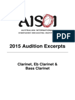 AISOI 2015 Clarinet Excerpts