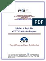 Syllabus CFP Certification Program