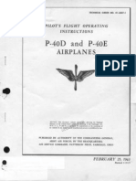 Pilot\'s Flight operating instructions