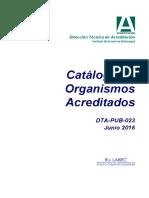 Catalogo Acreditacion Actulizado Al 9 de Junio 2016