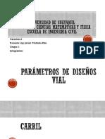 Parametro de Diseno Vial