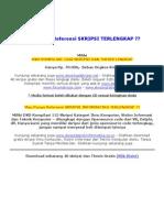 Skripsi Teknik Informatika Dengan Open Source