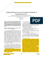 Lightning Protectio and Calculation Methods of Transmission Line