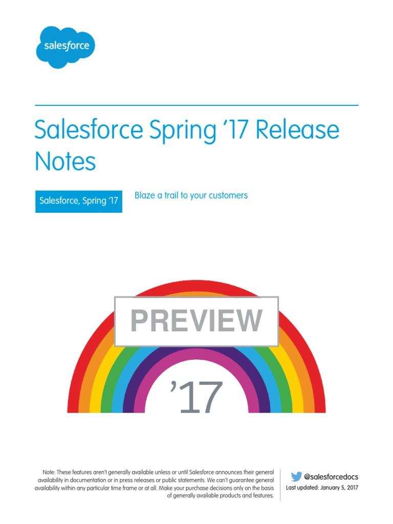 Salesforce Spring17 Release Notes | Salesforce Com | Gmail