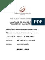 ADM. de NEGOCIOS INTERNACIONALES Actividad No. 5 Actividad de Investigacion Formativa