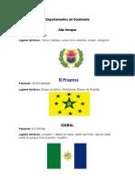 Departamentos de Guatemala Poblacion y Lugares Turisticos