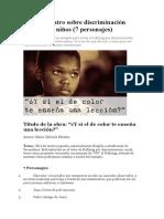 Obra de Teatro Sobre Discriminación Racial Para Niños