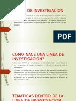 Lineas de Investigacion Problematica