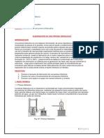 Avance de Manufactura de Una Prensa Hidraulica