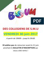 Affiche Boum Collegien