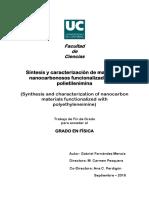 Síntesis y Caracterización de Materiales Nanocarbonosos Funcionalizados Con Polietilenimina