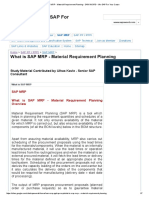 SAP MRP - Material Requirement Planning