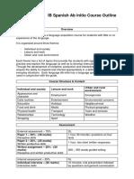 Course Outline - IB Spanish Ab Initio